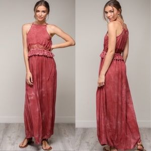 🥳LAST ONE Mineral Wash Lace Maxi